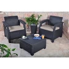 keter corfu seater balcony set plastic rattan garden furniture sets