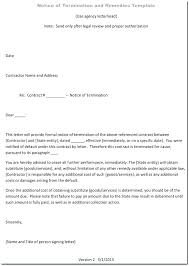 Notice Of Termination Of Employment Template Termination Letter ...