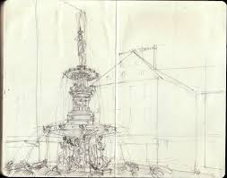 architecture sketch wallpaper. Urban ART Water Fountain Architecture Century Pencil Buildings Paper Observation Switzerland Sketch Suisse Sketching Turtles Fred Wallpaper