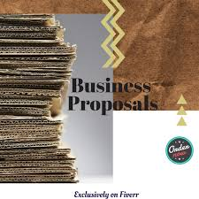 Professional Business Proposals Write You A Professional Business Proposal