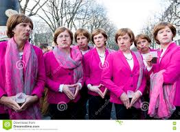 Group Of Young Men Posing As Angela Merkel Editorial Stock Image - Image of  pose, merkel: 72352584