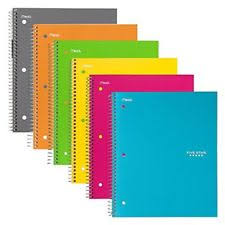 Graph Paper Spiral Notebook College Ruled 1 Subject 8 5 X 11 Inch