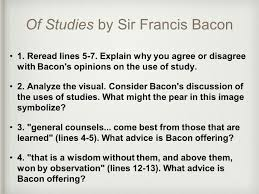 bell work francis bacon an author we will study today wrote his of studies by sir francis bacon