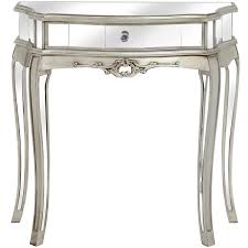 half moon table. Argente Mirrored One Drawer Half Moon Console Table S