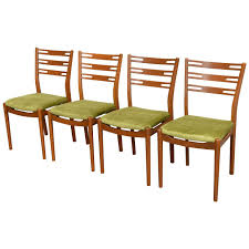 set of four swedish midcentury modern teak dining chairs at stdibs