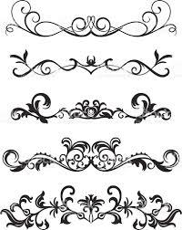 A Various Scroll Designs Scroll Design Stencil Designs Art