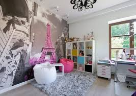 bedroom wall decorating ideas for teenage girls. Wonderful Photo Of Teen Bedroom Wall Decoration Ideas Accent Eiffel Tower Girl Beanbags.jpg For Small Rooms Teenagers Decorating Teenage Girls