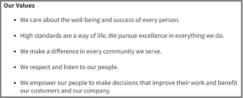 Personal Value Statement Examples Delectable 48 Core Value Statements From 48's Top Organizations