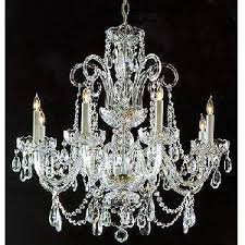 silver crystal chandelier glass arms30