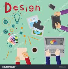 Design Process Brainstorming Design Process Brainstorming Designers Work Stock Vector