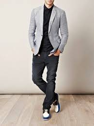 Image result for mens wearing relaxed fit jeans with blazer