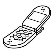 Cell Phone Coloring Page 13571 1024 X 1024 Tormentoftheweek