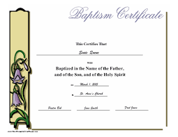 26 Images Of Birth Baptism Certificate Template Free Boatsee Com