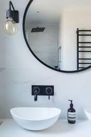 Image Gray Bathroom Marble Tiles Marble Black And White Bathroom Industrial Luxe Industrial Bathroom Black Taps Black Fittings Resin Sink Black Mirror Pinterest Bathroom Marble Tiles Marble Black And White Bathroom Industrial