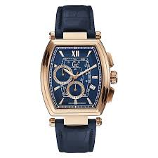 men s gc watches ernest jones gc guess men s rose gold plated blue strap watch product number 3824497