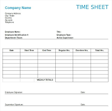 Sample Timesheet Template – Gocollab