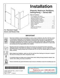 Bathroom Partition Hardware Fascinating Catalog And ArticlesBradley Mills Partition Installation Instructions
