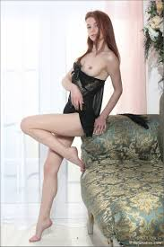 Skinny Shaved Petite Redhead Cutie Alison Fox with Pretty Pussy.