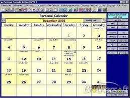 Calendar Generator Download Free Personal Calendar Generator Personal Calendar