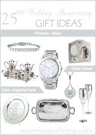25th anniversary gift ideas for wife gifts couples in wedding from husband to unique