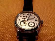 rousseau watch rousseau men s verse 23 jewel automatic power reserve moon phase analog watch