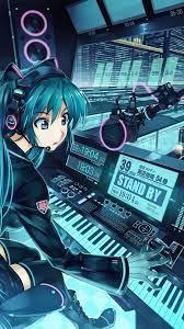 Anime Girl Blue Wallpaper Hd For ...