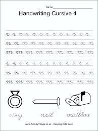 Handwriting Worksheets Penmanship For 4th Graders Albertcoward Co