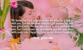 Mother To Daughter Birthday Wish Quotes via Relatably.com