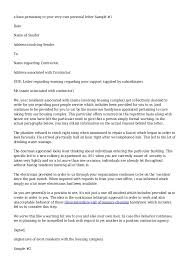 Hr Warning Letter Sample Warning Letter To Contractor