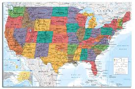 Us Map Chart Details About Usa United States Map Wall Chart Poster New Laminated Available