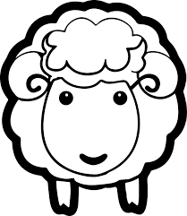 Nice Sheep Coloring Pages