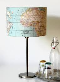 Globe Lampenkap Atlas Wereld Oude Landkaart Lamp Etsy