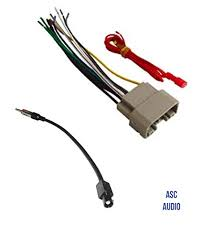 amazon com asc audio car stereo wire harness and antenna adapter to aftermarket car radio wiring diagram asc audio car stereo wire harness and antenna adapter to install an aftermarket radio for some