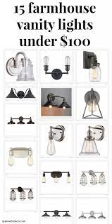 15 Farmhouse Vanity Lights On A Budget Green With Decor Vintage Bathroom Light Fixtures Vintage Bathroom Lighting Farmhouse Vanity Lights