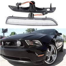 2014 Mustang Side Marker Lights Details About 2pcs Amber Front Bumper Side Marker Lights For Ford Mustang 2010 2014 Clear Lens