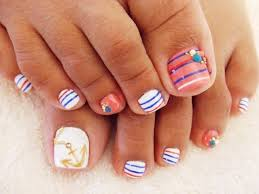 Cute Pedicure Designs Cute Pedicure Summer Time Nail Art Pedicure Nails