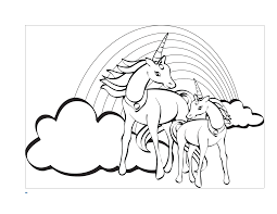 Coloring Pages Coloring Page With Unicorn Character Color By