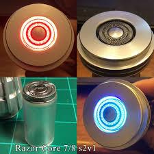razor core style 2 7 8 inch od fx lightsaber blade plug
