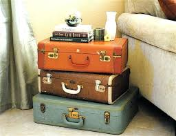 how about a vintage luggage coffee table suitcase