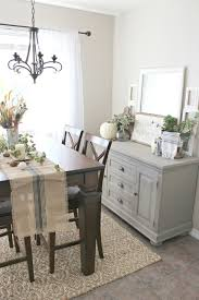 Fall Decor Buffet Table Painted In Annie Sloan French Linen Chalk