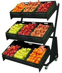 Fruit And Vegetable Stands And Displays Awesome Shop Equipment UK Mobile Fruit Vegetable Display Unit