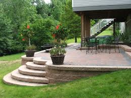 patio walls ideas attaching deck to retaining wall raised patio throughout patio wall ideas
