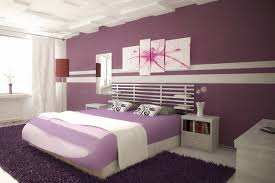 Colorful Bedroom Wall Designs Modish Purple Wall Color Feat Splashes Wall Painting Ideas In
