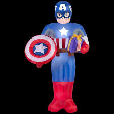 marvel 41 34 in d x 38 19 in w x 72 05 in h inflatable captain