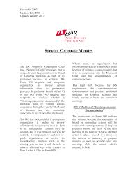 Corporate Minutes Of Meeting Sample Templates At