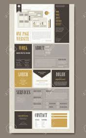 Website Template Newspaper Retro One Page Website Template Design In Newspaper Style