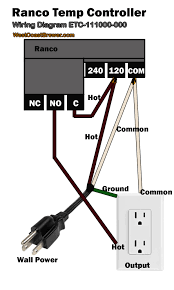 how to wire a ranco digital temperature controller with pid controller connection diagram at Temperature Controller Wiring Diagram