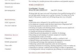 Cv Template For Care Assistant Cv Template Healthcare Resume Examples