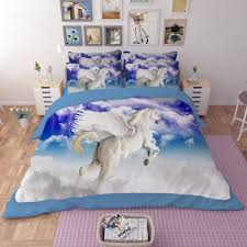pegasus the winged horse printed bedding set