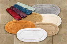 cotton 2 piece oval bath rug set